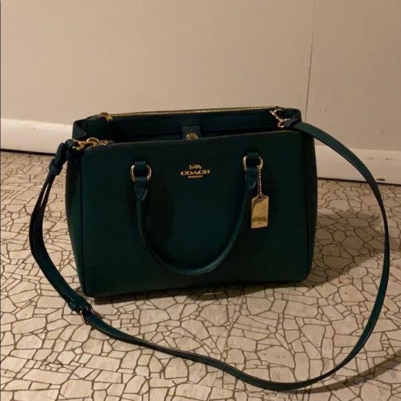 Dark Green Coach Bag